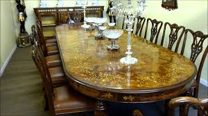 huge victorian marquetry extendable walnut dining table 01213