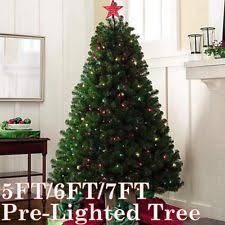 Christmas Trees With Lights Pre Lighted Christmas Trees Ebay