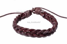 bracelet wristband images Handmade brown leather braided wristband bracelet a3 3 labone market jpg