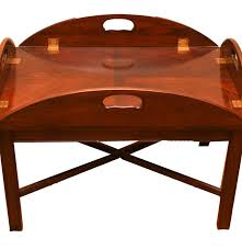 chippendale style brandt butler u0027s tray mahogany coffee table ebth