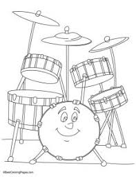 drum coloring pages for kids tags drums coloring pages clip art