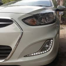 hyundai accent lights daytime running lights drl with fog l cup and controller for