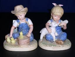home interior denim days figurines home interiors homco denim days collection figurines reference