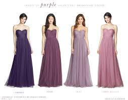 purple bridesmaid dresses purple mismatched bridesmaid dresses