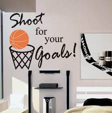 basketball lines wall decal basketball themed rooms themed