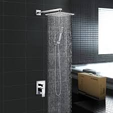 Luxury Bathroom Showers Embather Brass Rainfall Shower Systems Wall Mouthed With