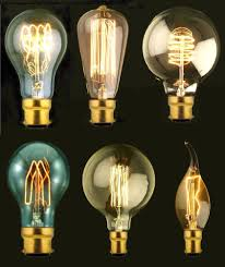old style light bulbs b22 bayonet filament vintage edison style squirrel cage l light
