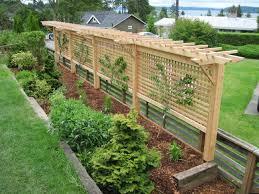 garden trellis ideas in the center garden area to beautify the