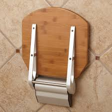 solid bamboo folding shower seat bathroom