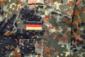 Army Uniform Flag Patch German Military Flecktarn Camouflage Fabric With Flag Patch Banco