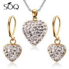 steel heart necklace images Stainless steel heart exquisite crystal gold mangalsutra designs jpg