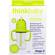 think thinkbaby thinkster straw bottle stage d green iherb com