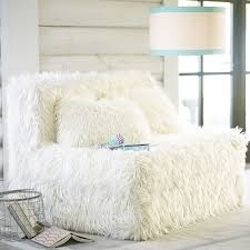 Cushy Sleeper Sofa Furlicious Faux Fur Cushy Sleeper 47 25 Pbteen