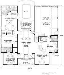 different house plans house plan courtyard for privacy small pool why