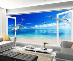 3d murals mural 3d wallpaper 3d wall papers for tv backdrop blue sky window