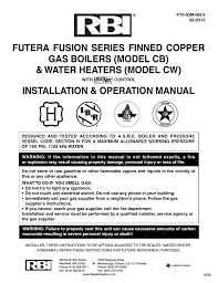 rbi futera ii series operating instructions
