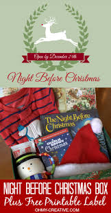 The Night Before Halloween Poem Night Before Christmas Box With Free Printable Label
