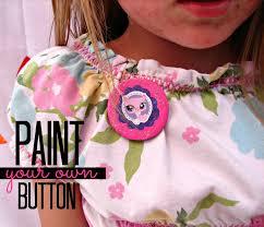 diy buttons kid craft monday a and a glue gun