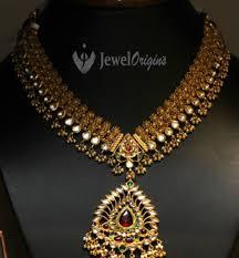antique gold necklace images Antique gold kundan necklace designer jpg