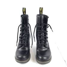 top dr martens darcie air wair black boots size 5 us black dr