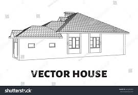 3d render building vector vector house stock vector 441089599