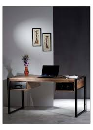 Schreibtisch 130 X 80 Sit Möbel 9207 01 Schreibtisch Panama Shesham Natur Mit Schwerem