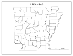 Blank Usa States Map by Maps Of Arkansas