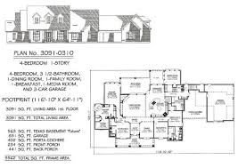 4 bedroom 3 bath house plans 4 bedroom 1 story 2901 3600 square