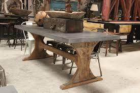 Zinc Table Top Metal Top Dining Table Coaster Webber 5pc Metal Top Dining Table