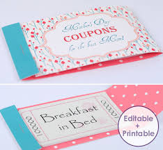 what to get your for s day make a stunning mothers day coupon booklet for your tlg