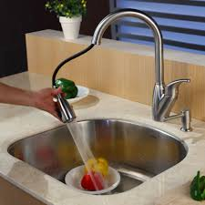 how to change a kitchen sink faucet stainless steel kitchen sink combination kraususa com