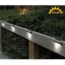 solar led deck lights set of 4 solar powered lights exterior