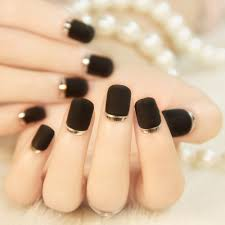 aliexpress com buy yunail 24pcs short false nails black frosted