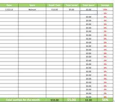 Saving Spreadsheet Coupon Savings Spreadsheet Great Idea Organization