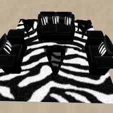 zebra living room set second life marketplace zebra print living room set