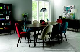 oslo walnut teal upholstered dining chairs pair winsome table and