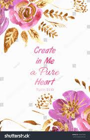quote pure heart quote create me pure heart watercolor stock illustration 455377648