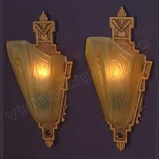 Cast Iron Wall Sconces Pair Vintage Cast Iron Slip Shade Wall Sconces Signed Mep With