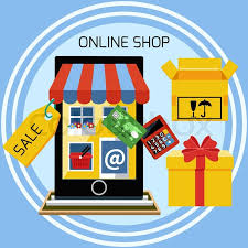 Awning Online Internet Shopping Concept Smartphone With Awning Of Buying