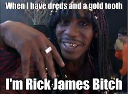 Rick James Memes - when i have dreds and a gold tooth i m rick james bitch cold as