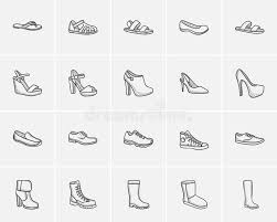 shoes sketch icon set stock vector image of highheel 76482845