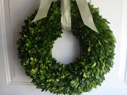 Spring Decorating Ideas For Your Front Door Decorating Natural Green Boxwood Wreath For Interior And Exterior