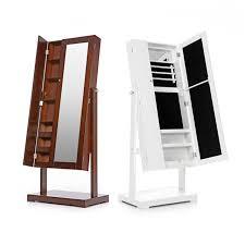 free standing jewellery armoire uk ikayaa us uk fr stock jewelry cabinet armoire tilt adjustable