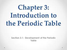 Development Of The Periodic Table Chapter 3 Introduction To The Periodic Table Section 3 1