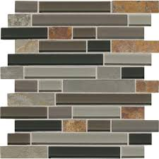 daltile slate radiance flint 11 3 4 in x 12 1 2 in x 8 mm glass