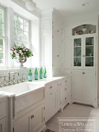 Kitchen Cabinets China Lewis And Weldon Gorgeous All White Kitchen With White Marble