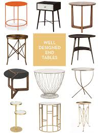 modern round end table well designed end tables design crush