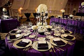 wedding table decoration ideas purple wedding party decoration