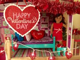 decorating american doll house for valentine u0027s day youtube