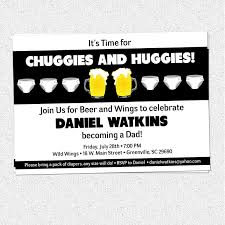 chuggies and huggies beer and diaper party invitation babies